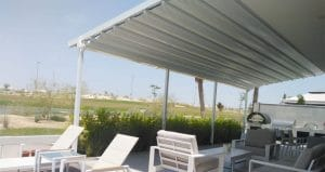 Atika Motorised Pergola Installed in Abu Dhabi | The Shading Company Dubai